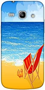Snoogg Tropical Beach Vector Background Solid Snap On - Back Cover All Around...