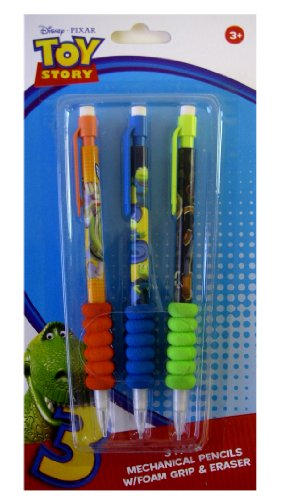 Toy Story Mechanical Pencils - Disney Toy Story Soft Grip Mechanical Pencils (3 Pieces)