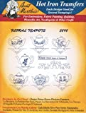 Aunt Martha's Hot Iron Transfers 3898 Floral Teapots