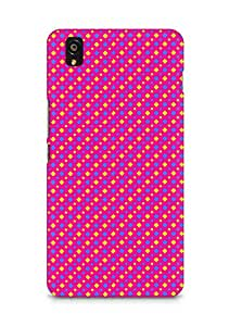 Amez designer printed 3d premium high quality back case cover for OnePlus X (Geometric Bright Pattern)