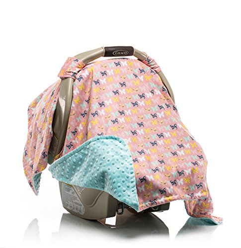 Elonka Nichole Baby Girl Car Seat Canopy, Beautiful Butterfly