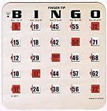 25 Woodgrain 5 Ply Finger-tip Bingo Shutter Slide Cards