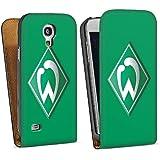 Samsung Galaxy S4 Mini Tasche Hülle Downflip Tasche - Werder Bremen grün