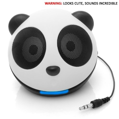 GOgroove Panda Pal High-Powered Portable Laptop , MP3 , Tablet Mini Speaker System