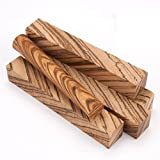 Diagonal Cut Zebrawood Pen Blank 5-pc