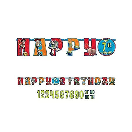 Say Happy Birthday the Toy Story way with the Toy Story 3 Jumbo Add-An-Age Letter Banner! With this banner you will receive a set of numbers so you can personalize the center of the banner with a year - i.e., if you're celebrating your 10th birthday ...
