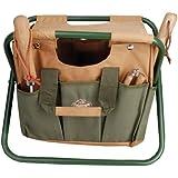 Esschert Design Canvas Tool Bag and Stool Carry-all