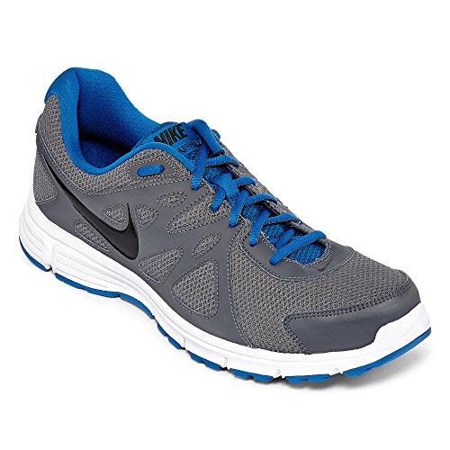 Nike Mens Revolution 2 Running Shoe (10, Dark Grey/Military Blue/White/Black) (Nike Shoes Blue compare prices)