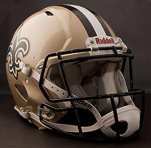 NEW ORLEANS SAINTS NFL Riddell Revolution SPEED Football Helmet by www.realhelmets.com