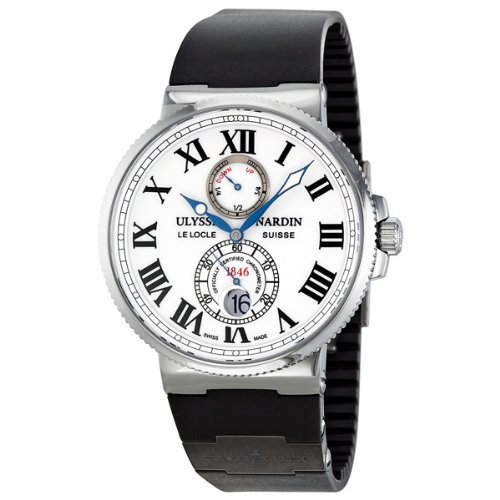 Ulysse Nardin Maxi Marine Chronometer White Dial Mens Watch 263-67-3-40
