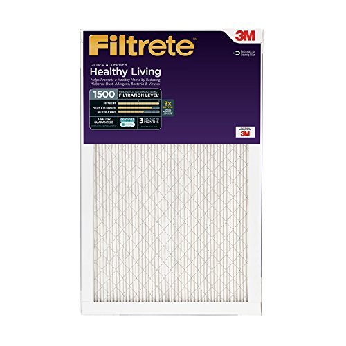 Filtrete Healthy Living Ultra Allergen Reduction Filter, MPR 1500, 20-Inch x 25-Inch x 1-Inch, 6-pack by 3M