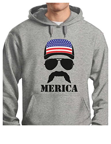 TeeStars - American Flag Cap hat - Cool 4th of July Merica Hoodie X-Large Gray (50 Shades Of Gray Merchandise compare prices)