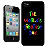 Fancy A Snuggle 'The World's Greatest Dad Fathers Day Birthday Gift' Clip On Back Cover Hard Case for Apple iPhone 4/4S