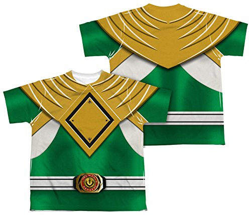 Youth: Power Rangers - Green Ranger (Front/Back Print) Kids T-Shirt Size YS (Green Ranger Shirt Kids compare prices)