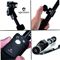ApeCases Branded Yunteng 1288 With Detachable Remote for Gopro Hero , DSLR with Rechargeable Bluetooth Remote for iPhone 6,6 Plus 6+ 5 5S 5C 4S, Samsung S3 S4 S5 S6 S6 Edge