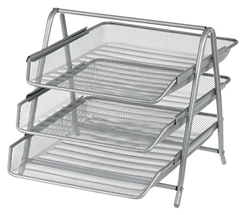 office-depot-executive-mesh-3-tier-letter-tray-silver