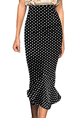 Viwenni Women's Vintage High Waist Wear To Work Bodycon Mermaid Pencil Skirt