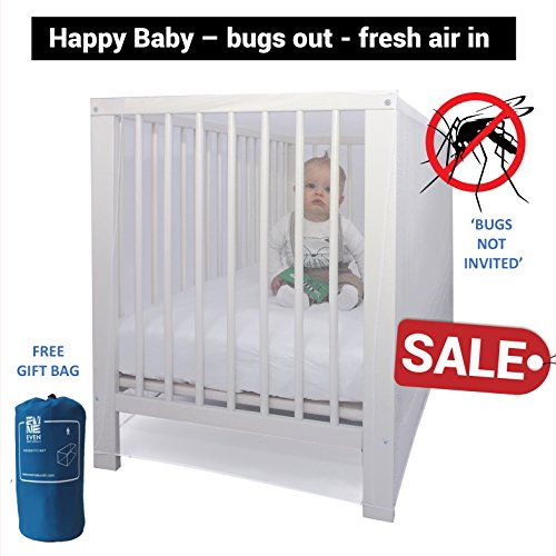Premium Mosquito Net fits most Baby Beds Crib Pack'n'Play Bassinet Playpen Cradles by #1 EVEN Naturals | Free Gift Bag & eBook |100% Satisfaction Guarantee |Soft Insect Netting Fly Screen Protection (Natural Net compare prices)