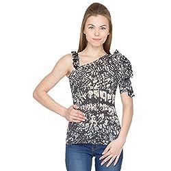 Species Women's Regular Fit Top (S-4116_Grey Black_Medium)