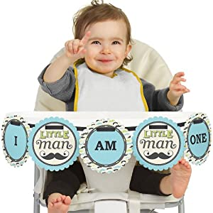 Dashing Little Man - High Chair Birthday Banners from Big Dot of Happiness, LLC