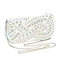 Silver Stud Clutch With Silver Chain