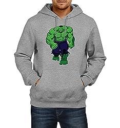 Fanideaz Men's Cotton Giant Hulk Hoodies For Men (Premium Sweatshirt)_Grey Melange_L