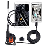 Inspection Camera, RISEPRO USB HD 1600x1200 pixels Inspection Camera Borescope OTG 6 LED Endoscope Video 2.95 feets Waterproof Tape for PC and Smart Phone Use OT-88AS