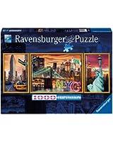 Ravensburger - 19995 - Puzzle - New York en Lumière - 1000 pièces