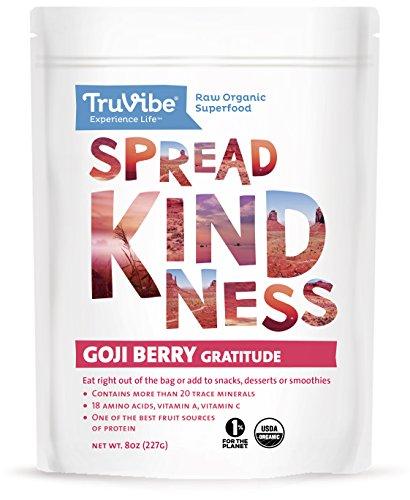 Truvibe 100% Organic Raw Goji Berries, 8 Ounce