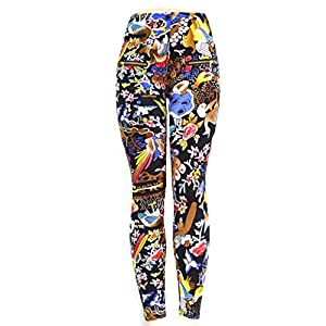 TD Women's Front Zipper Detail Lines Print Slouchy Skinny Pants S-M Multi