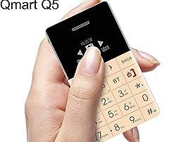 NavswaTM AIEK/QMART Q5 M5 8GB Card Mobile Phone 5.5mm Ultra Thin Pocket Mini Phone Quad Band Low Radiation AEKU Q5 Card Cell phone