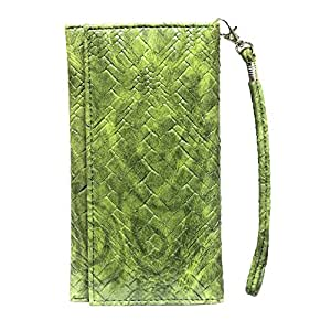 Jo Jo A5 Bali Leather Wallet Universal Pouch Cover Case For LeTV Le 1 Pro 7.5/10 Green
