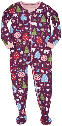 Hatley Little Girls' Footed Coverall (Toddler/Kid) - Forest Animals - 2 front-994105