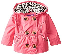 Pink Platinum Baby-Girls Newborn Double Breasted Trench, Fuchsia, 3-6 Months