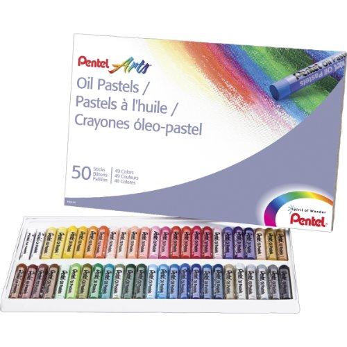 pentel-arts-oil-pastels-50-color-set-phn-50