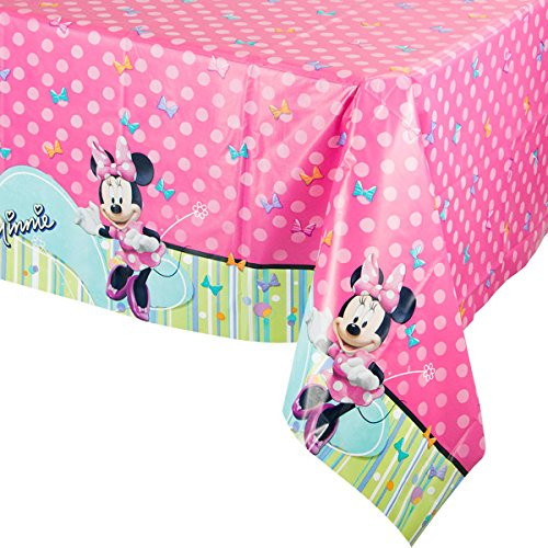 Disney-Minnie-Plastic-Table-Cover-Birthday-Party-Tableware-Decoration-1-Piece-Pink-54-x-96