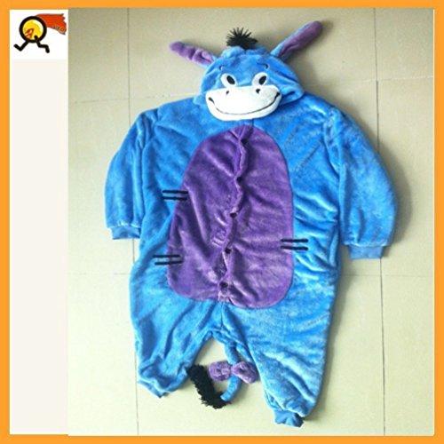 Blue Eeyore Donkey Pajamas Costume Fancy Kids (Size Xs) front-808243