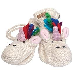 Animal World - Ummi the Unicorn Kids Knit Mittens White
