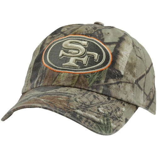NFL '47 Brand San Francisco 49ers Clean Up Adjustable Hat - Realtree Camo/Orange at Amazon.com