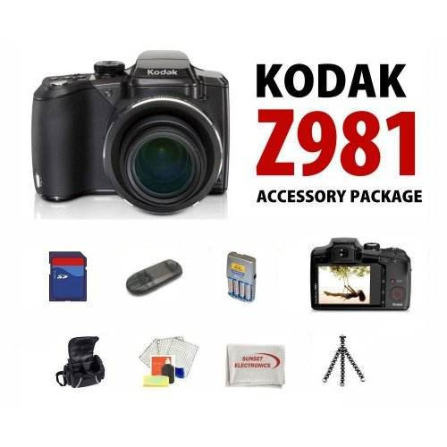 Kodak EasyShare Z981 14MP Digital Camera  Schneider-Kreuznach