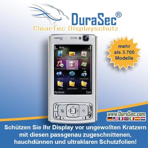 5 x DuraSec ClearTec Displayschutzfolie f&#252;r PSION Ikon