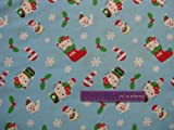 HELLO KITTY Christmas Winter Cotton Fabric BY THE HALF YARD