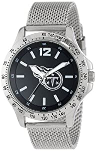 Game Time Mens NFL-CAG-TEN Cage NFL Series Tennessee Titans 3-Hand Analog Watch by Game Time