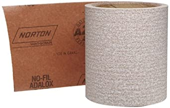 "Norton A275 No-Fil Adalox Abrasive Roll, Paper Backing, Pressure Sensitive Adhesive, Aluminum Oxide, Waterproof, Roll 4-1/2"" Width x 10yd Length, Grit 150 (Pack of 1)"