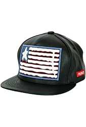 ililily Star Spangled Banner Embroidery Leather New era Style Baseball Cap