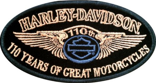 Harley Davidson 110th Anniversary Patch (NEW)