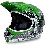 Motorradhelm Kinder Cross Helme Sturzhelm Schutzhelm Helm für Motorrad Kinderquad und Crossbike Modell Design 2015 in grün