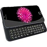 """Ultra Thin Slide-Hintergrundbeleuchtung drahtlose Bluetooth Tastatur Case für das Apple iPhone 6-4,7 """" (4.7"""", schwarz)"""