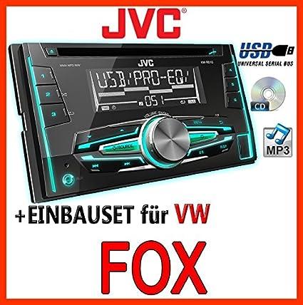 VW fox jVC-kW-r510E-kit de montage d'autoradio 2 dIN