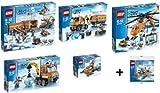 Lego Arktis komplett Set 60032 60033 60034 60035 60036 + Mini Flugzeug 30310